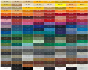 RAL каталог кольорів порошкове фарбування